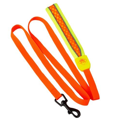Trela de alta visibilidade TK-Pet Easy Click laranja