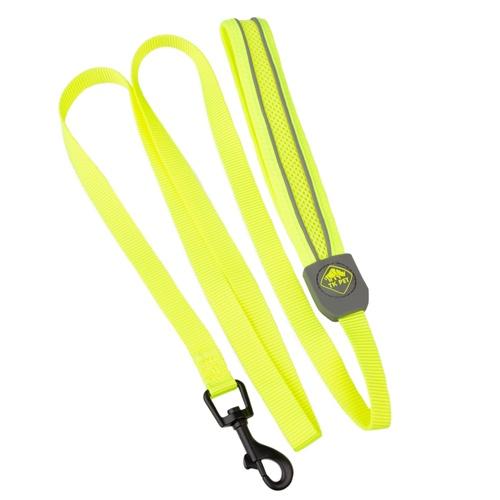 Trela de alta visibilidade TK-Pet Soft amarela