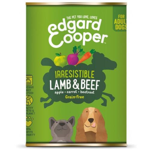 Lata Edgard & Cooper Cordeiro e Bovino para cães