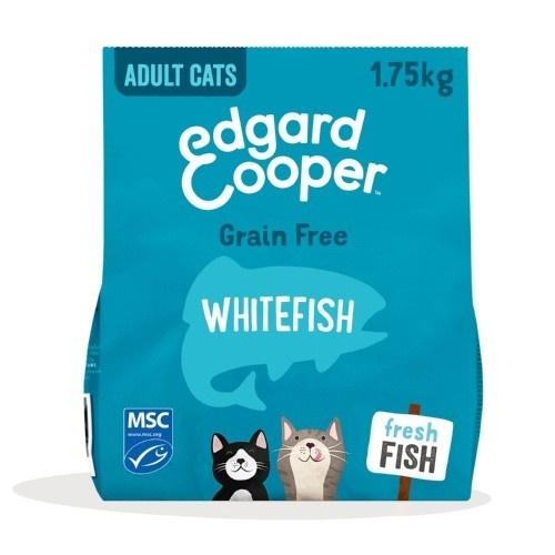 Ração Edgard & Cooper Peixe branco fresco para gatos