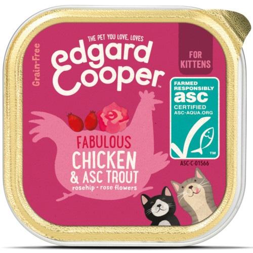 Terrina Edgard & Cooper Frango e Truta para gatinhos
