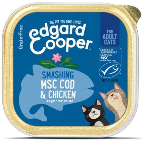 Terrina Edgard & Cooper Frango e Bacalhau para gatos