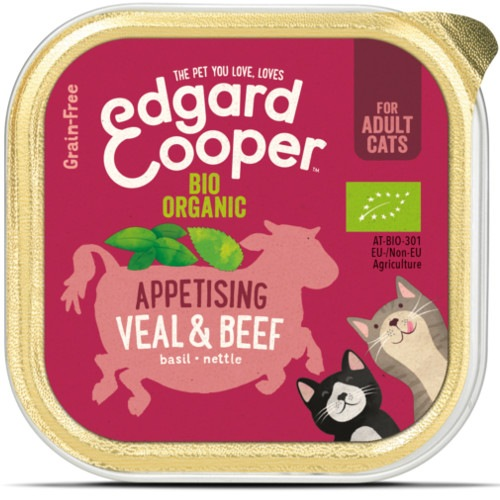 Terrina Edgard & Cooper Bovino e Vitela Bio para gatos