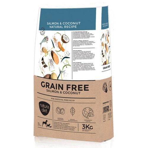 Ração Natura Diet Grain Free salmão e coco