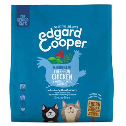 Ração Edgard & Cooper Senior Frango e Peixe para gatos