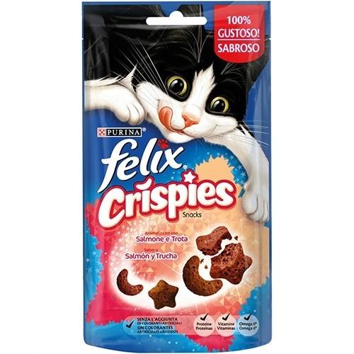 Snacks Felix Crispies Salmão e Truta