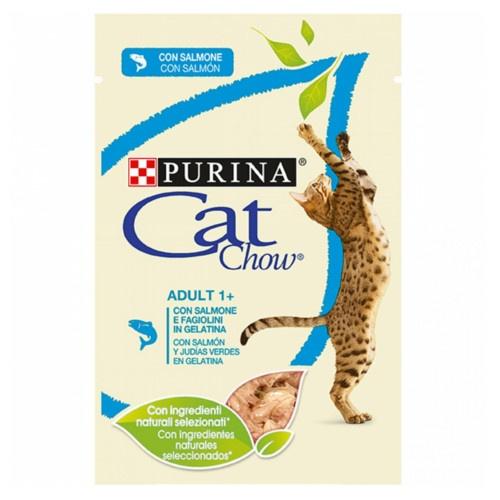 Purina Cat Chow salmão em gelatina para gatos