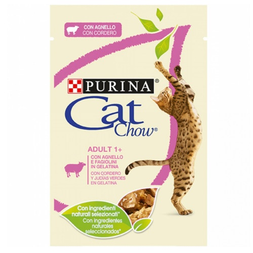 Purina Cat Chow cordeiro em gelatina para gatos