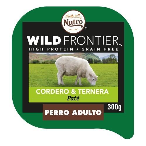 Patê Nutro Wild Frontier cordeiro e vitela para cães
