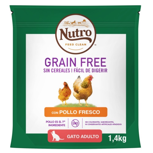 Nutro Grain Free ração com frango para gatos
