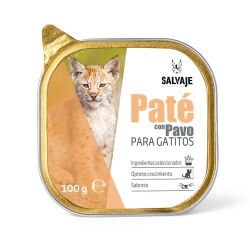 Terrina de Patê Salvaje com peru para gatinhos