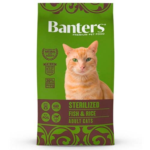 Ração Banters Sterilized Peixe para gatos