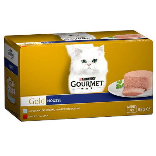 Pack Gourmet Gold Mousse peixe e boi