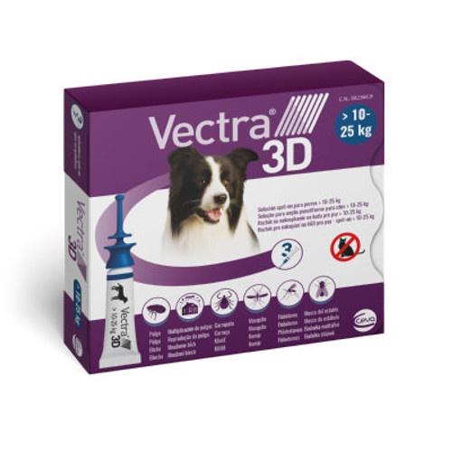 Vectra 3D pipetas para cães 10-25 kg