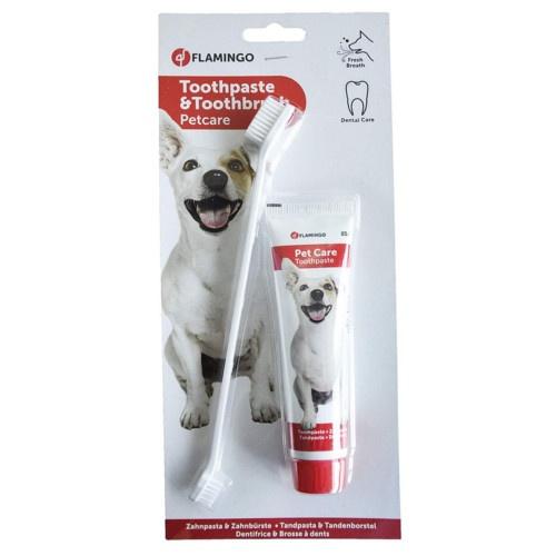 Pasta dental + escova para cães