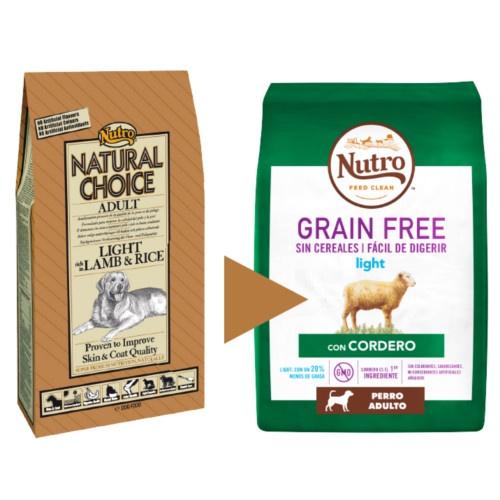 Nutro Grain Free Light com cordeiro para cães