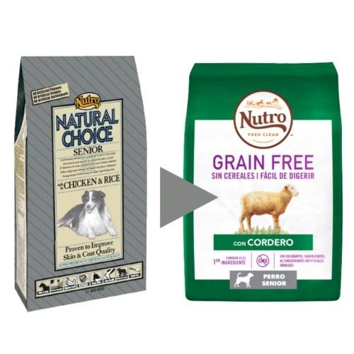 Nutro Grain Free Senior com cordeiro para cães