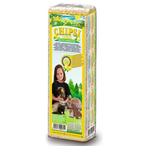 Granulado de lascas aromatizadas citrus para pequenos animais