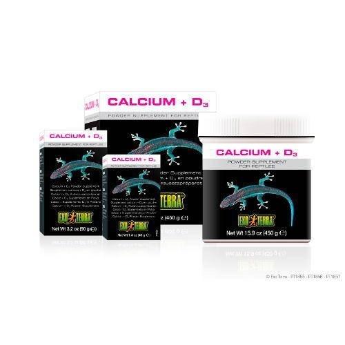 Suplemento de cálcio+vitamina D3 para répteis