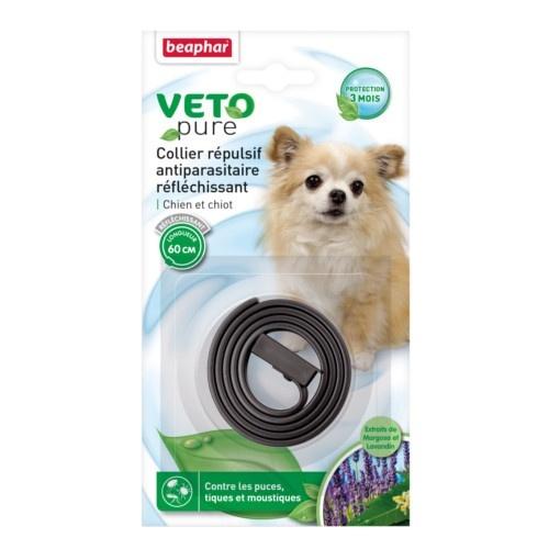 Coleira repelente de insectos reflectante para cães Beaphar