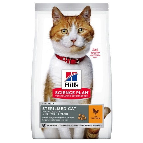 Hill's Feline Young Adult Sterilised Cat Frango