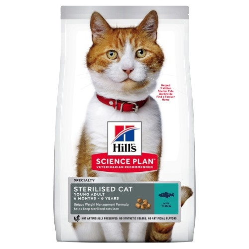 Hill's Feline Young Adult Sterilised Cat Atum