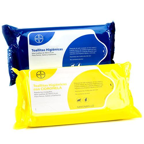 Sano & Bello toalhinhas higiénicas para mascotes