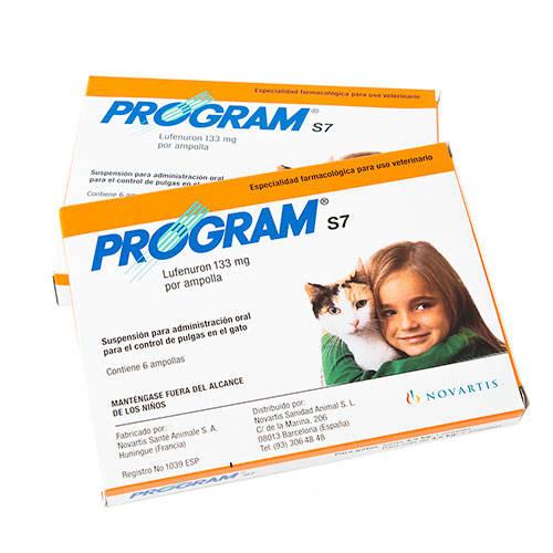 Anti-pulgas em suspensão oral Program S7 para gatos