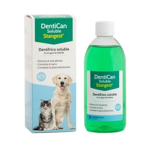 Dentífrico solúvel para enxaguar bocal Dentican para mascotes