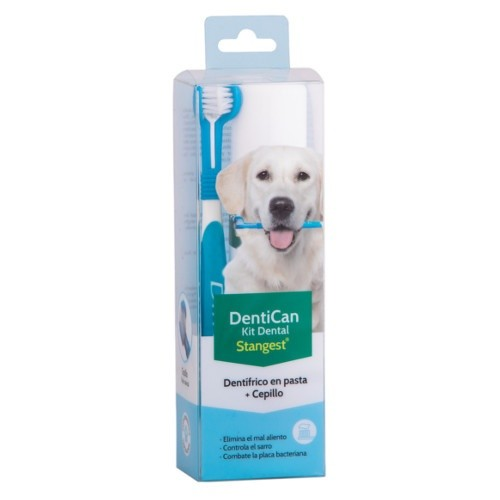 Kit escova + pasta de dentes para cães Dentican