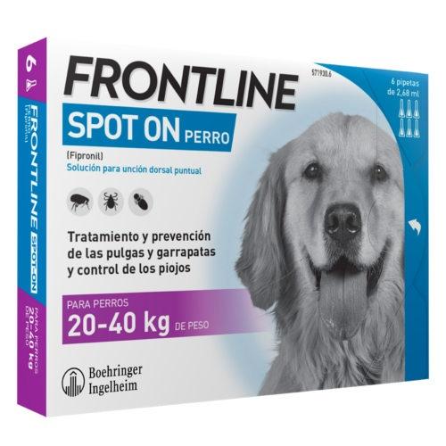 Frontline Spot On cães 20-40 kg protecção total