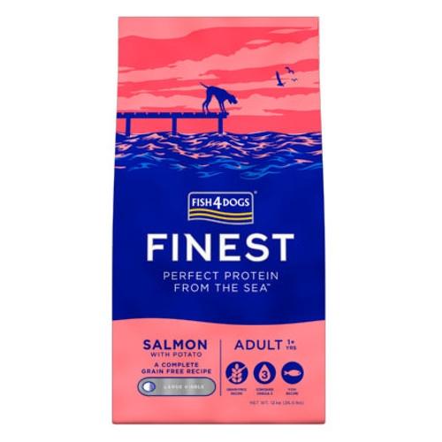 Fish4dogs Adult Complet Salmão com peixe fresco