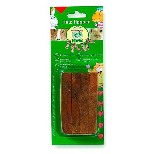Brinquedo mastigável para roedores tiras de madeira natural