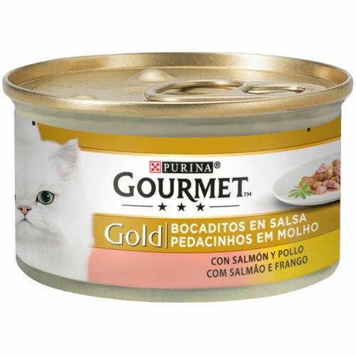 Gourmet Bocadinhos de Salmão e frango para gatos