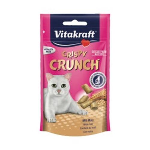 Vitakraft Crispy Crunch, cereais e malte para gato