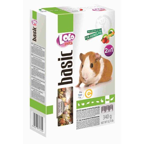 Lolo Pets Basic Mistura 2 em 1 frutos e vegetais para Cobaias
