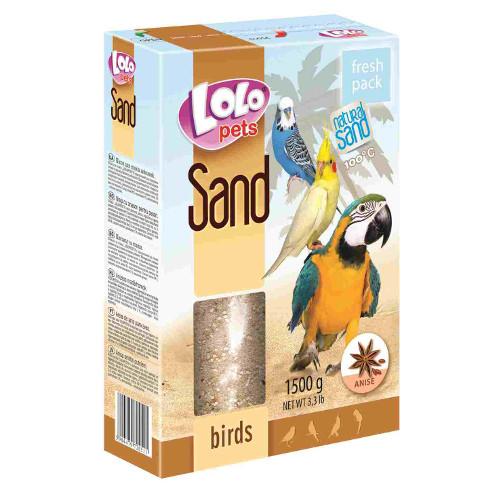 Lolo Pets Areia Natural para Pássaros