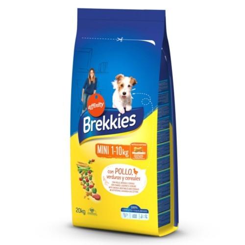 Brekkies Adult Mini Frango Ração para cães pequenos
