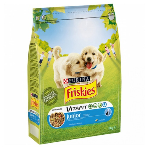 Friskies Junior Frango e legumes ração para cachorros