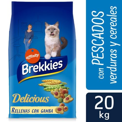 Brekkies Excel Adult Delice peixe Ração para gatos
