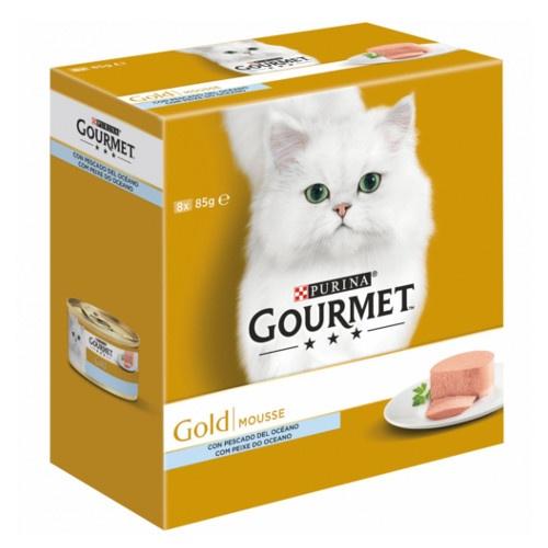 Gourmet Gold Multipack Mousses com peixe do oceano