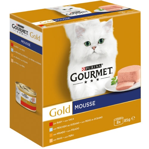 Gourmet Gold Multipack Mousses em 4 sabores