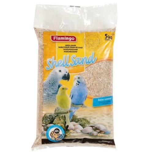 Areia de grit com conchas morena