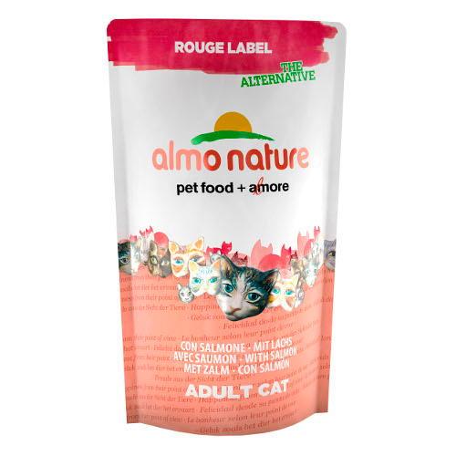 Almo Nature Rouge Label Salmão Ração naturais gatos