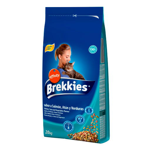 Brekkies Excel Adult Mix Peixe e Legumes Ração para gatos
