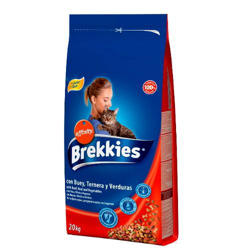 Brekkies Excel Adult Mix Boi e legumes Ração para gatos