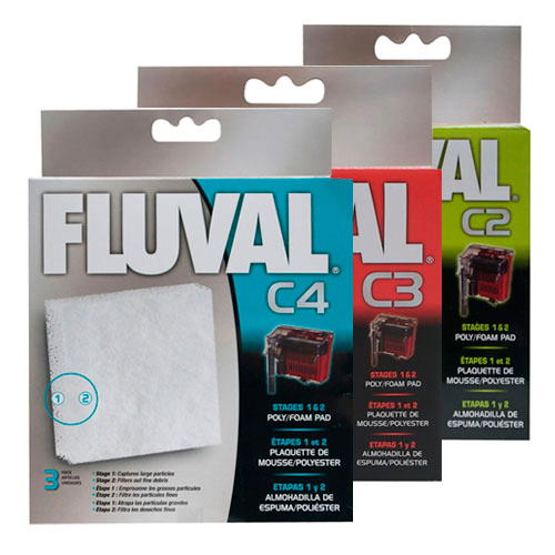 Foamex de poliéster de reposição para filtro bolsa Fluval C