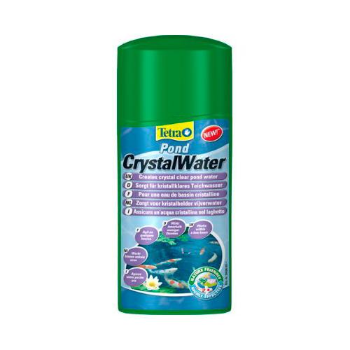 Tetra Pond CrystalWater esclarece a água em sua tanque