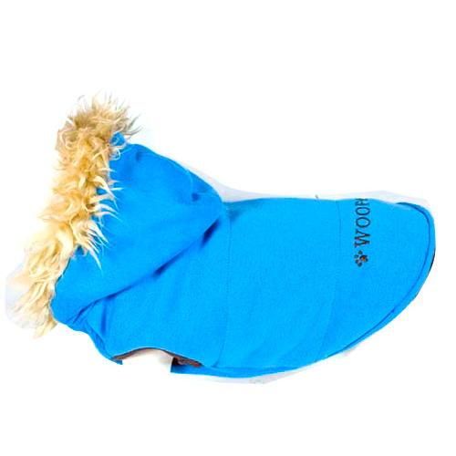 Suéter elástica acolchoada reversível azul Woof