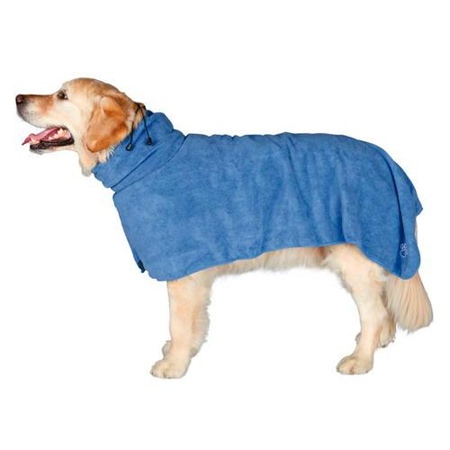 Roupão de microfibra absorvente para cães